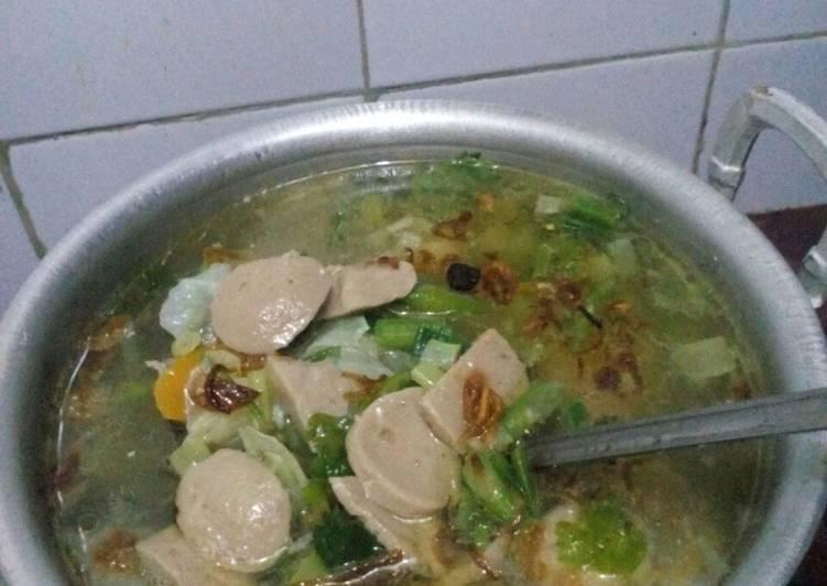sayur sop bakso