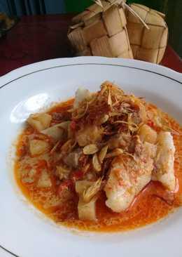 Ketupat sambal goreng khas Indramayu #menulebaran