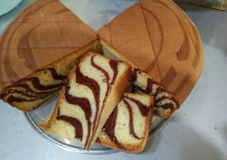 Resep Kue Bolu Zebra Sederhana Karya Rina Marlina Resep Mudah