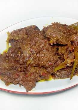 Rendang daging rice cooker