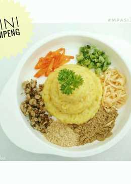 Resep MPASI 10m+ - Mini Tumpeng (Nasi Kuning)