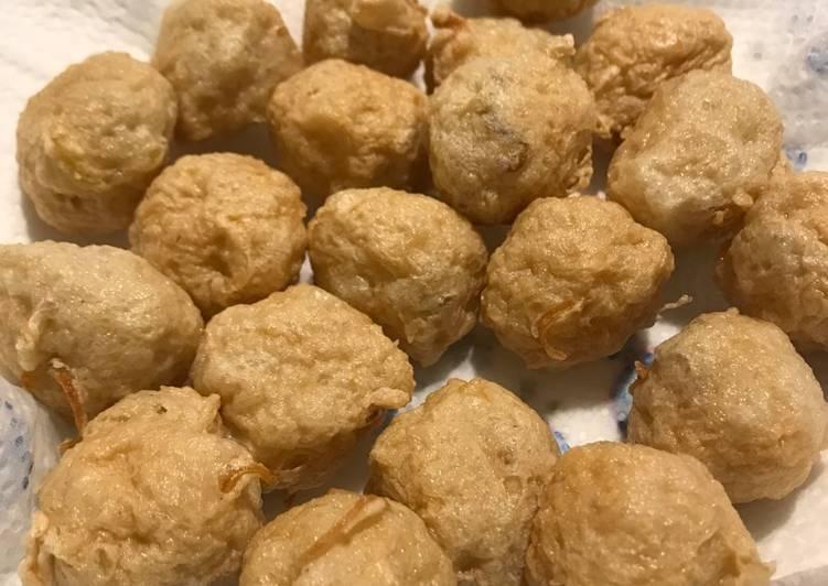 Resep Bakso Ayam Goreng Oleh Tinakitchen Cookpad