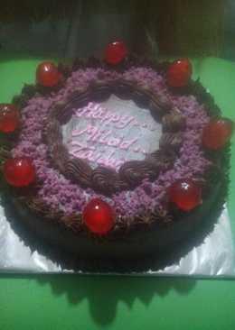 1638 resep birthday cake dengan cream coklat enak dan sederhana