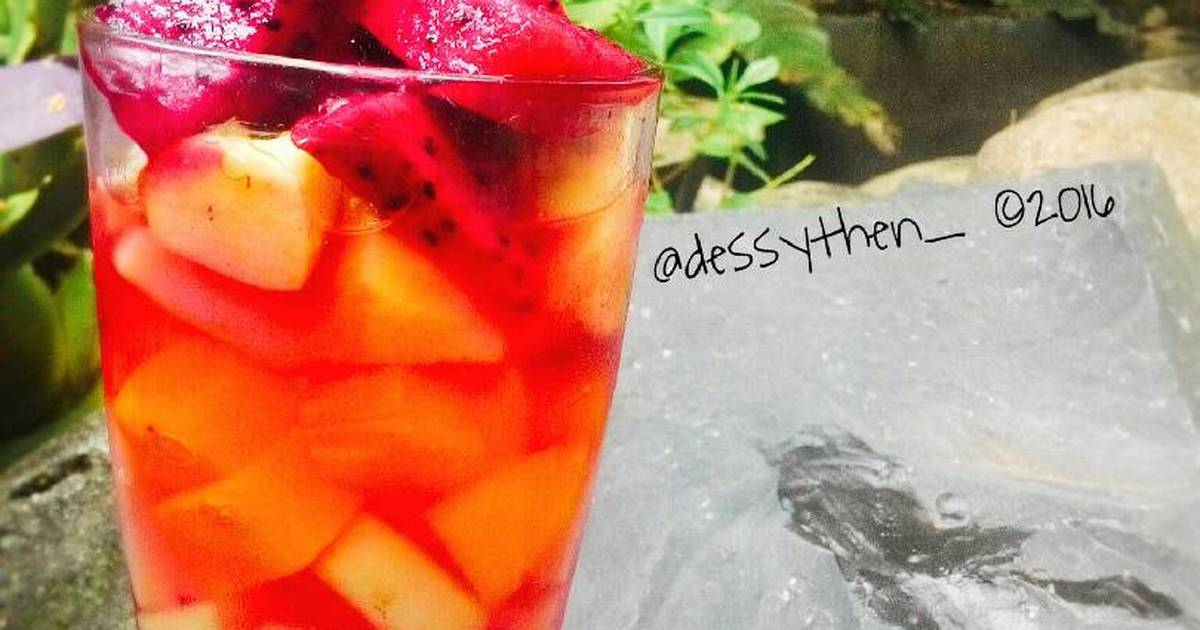 Resep Fresh fruty ice / es buah segar