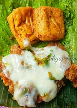 Ayam geprek keju leleh mozarela