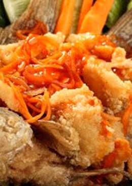 Ikan nila goreng crispy