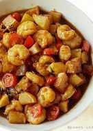 Tumis udang kentang masak kecap
