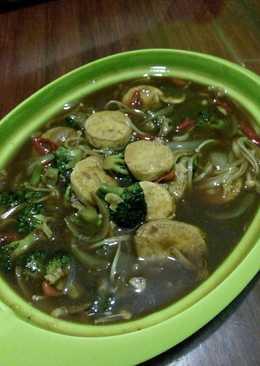 Tumis Brokoli Jamur Enoki Egg Tofu (sederhana+seadanya)