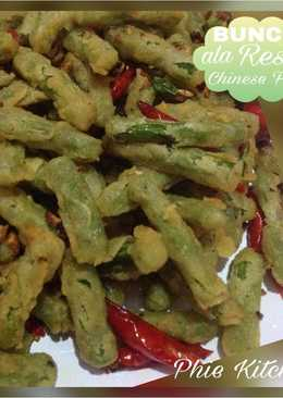 Buncis ala resto chinese food