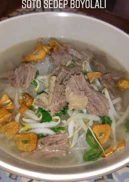 Soto Sedep Boyolali (Soto Daging Kuah Bening)