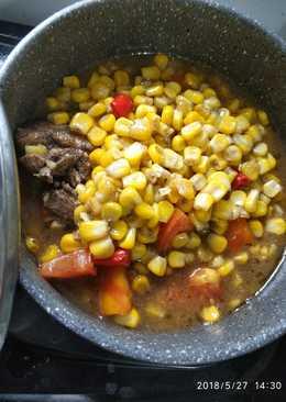 Corn Soup with Thick Sauces AB #BikinRamadanBerkesan