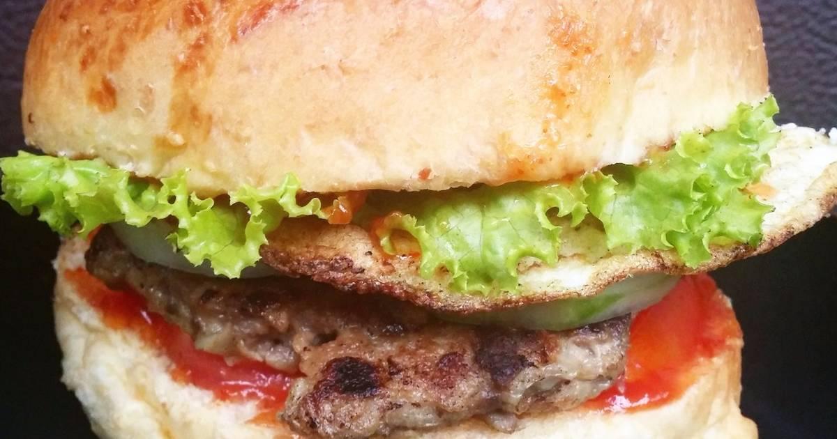 cara membuat hamburger sederhana   461 resep   cookpad