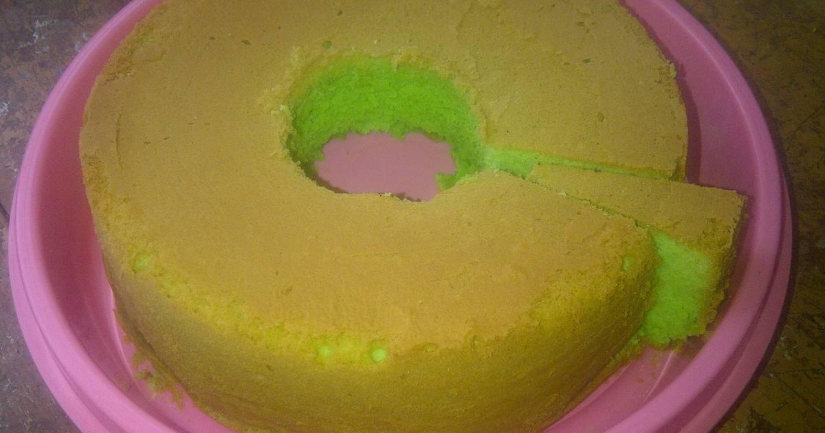 Resep Bolu Pandan (bakar) // Pandan cake (baked)