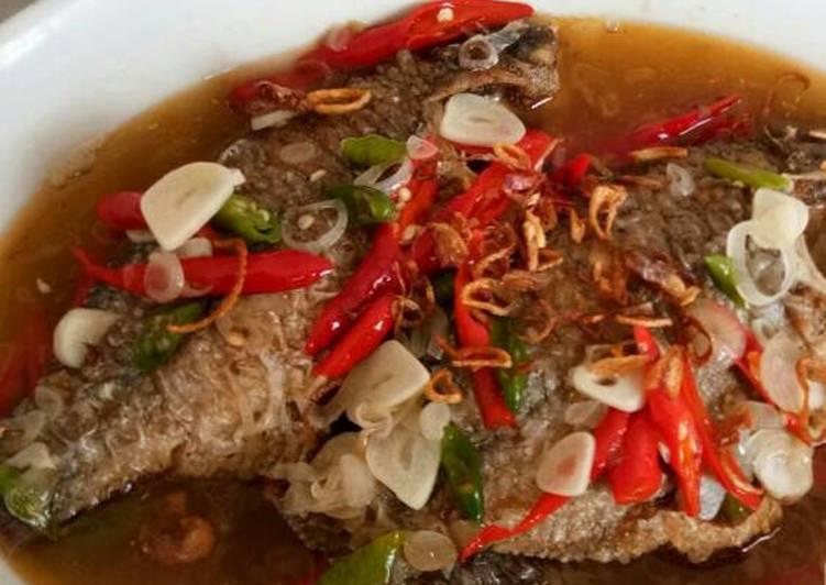 Steam pedas manis ikan nila