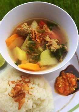 Sop daging sapi (kuah sop iga super gampang modal iris cemplung)