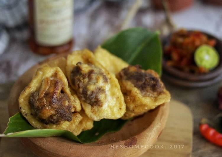 Resep Tahu Isi Daging Cincang Karya @heshidayat