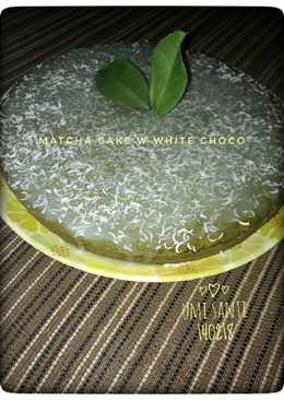 Eggless Matcha (green tea) Cake