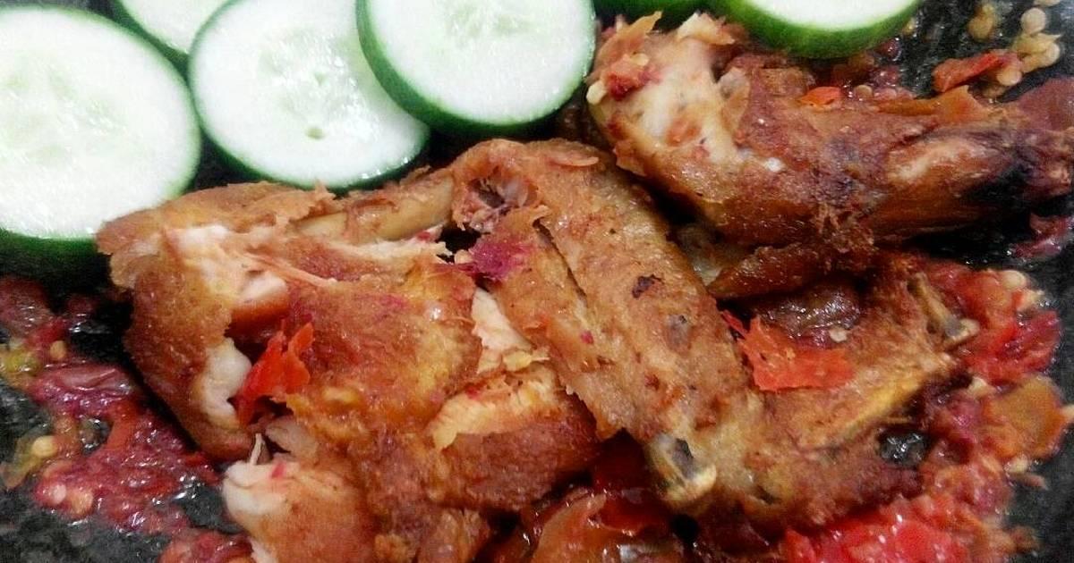 Resep Ayam Penyet Sambal Mentah Oleh Yeni Tirtasiwi