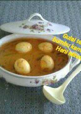 Gulai telur bumbu kambing