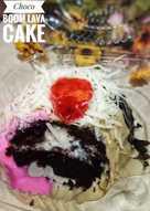 Steam Choco boom lava Cake