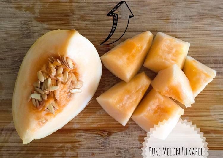 Resep Pure Melon Hikapel- Mpasi 6 Bulan Kiriman dari Susan Lie