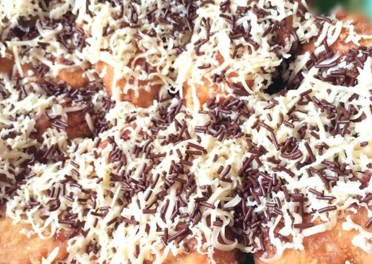 Pisang Kipas Goreng Coklat Keju