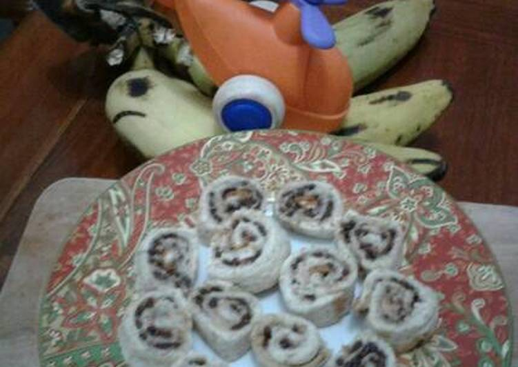Resep Roti Tawar Roll Pisang Coklat By Anak Sehat????
