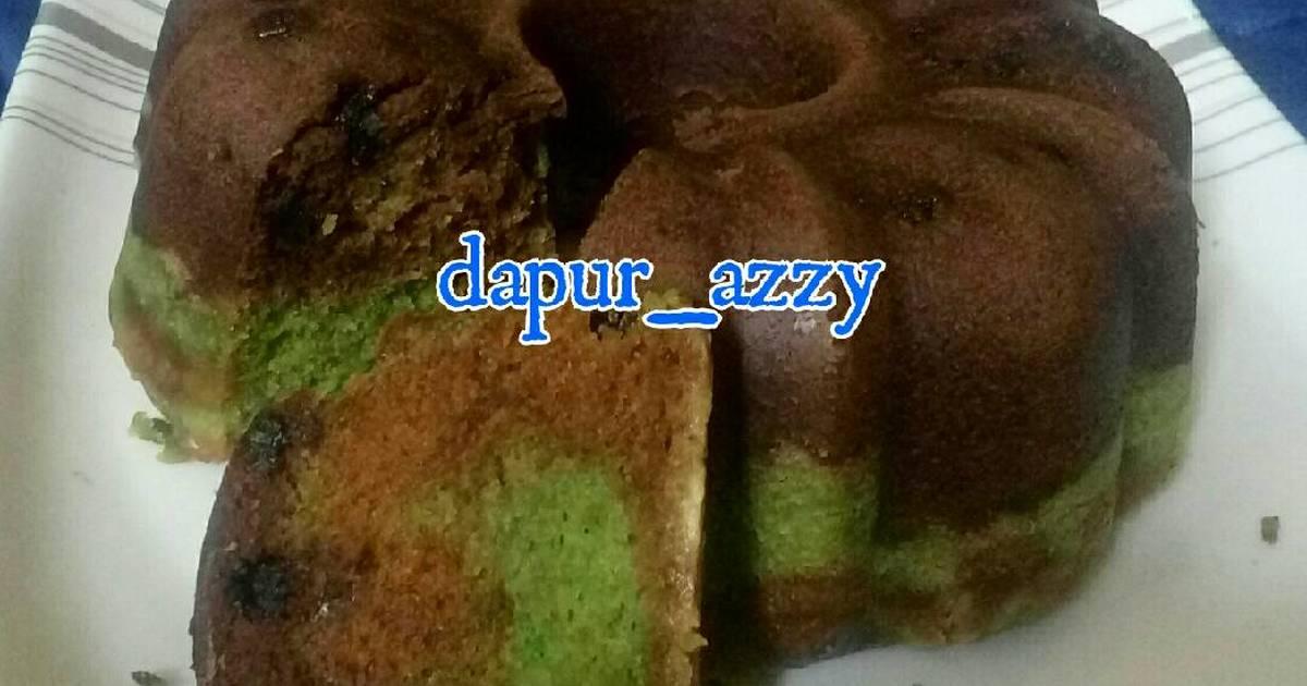 Resep Bolu Marmer Kukus/Magic Com 3 Rasa (Tanpa Telur, Tanpa Mixer)