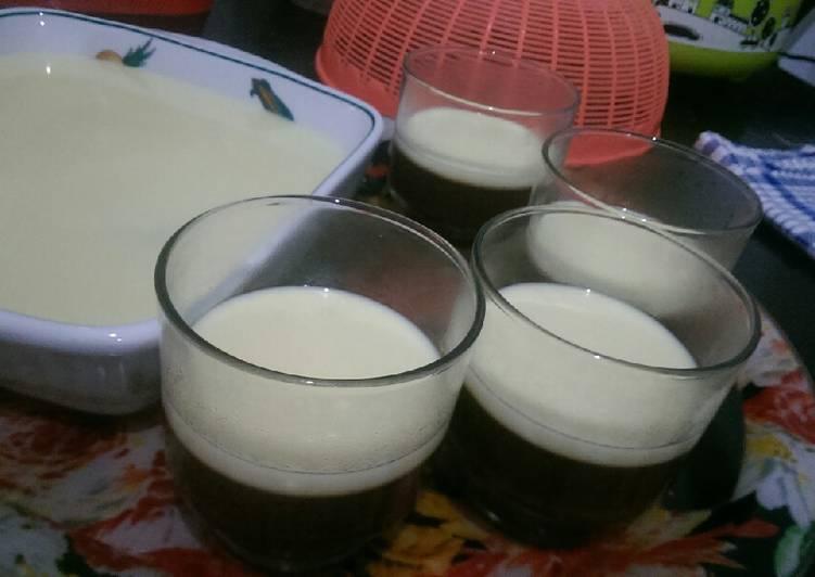 Resep Puding Coklat Fla Susu Vanilla Homemade #BikinRamadanBerkesan Oleh Delian Sjiariel (ssmum)