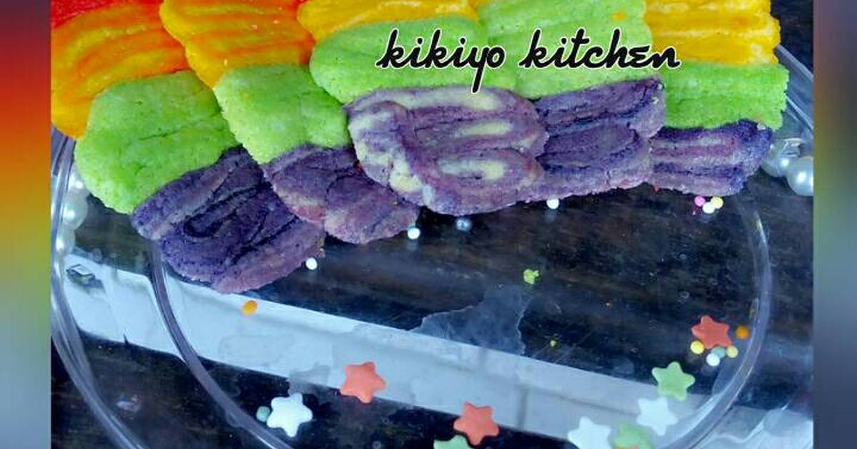 Resep Lidah kucing rainbow