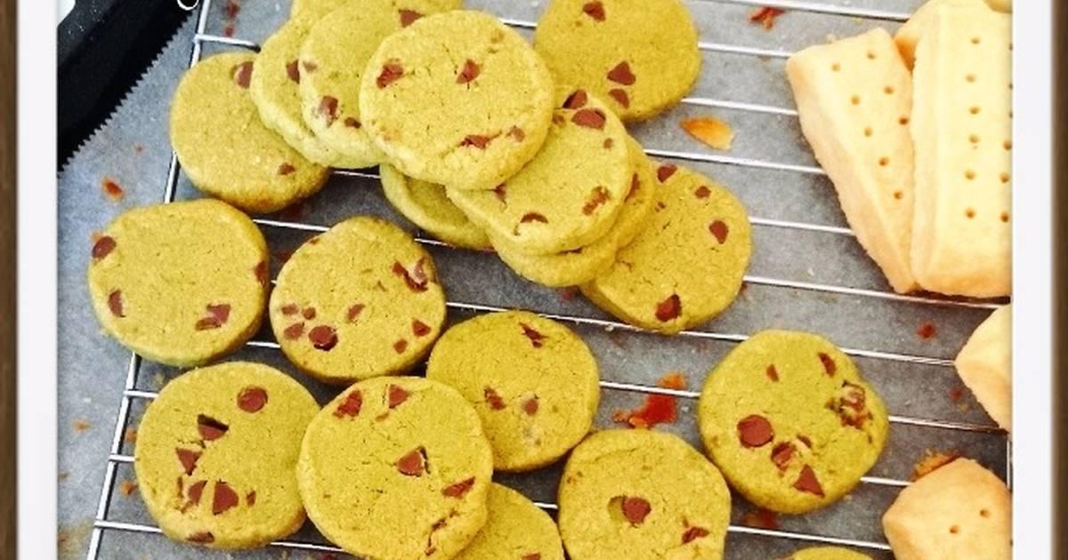 Resep Matcha chocolate chip cookie