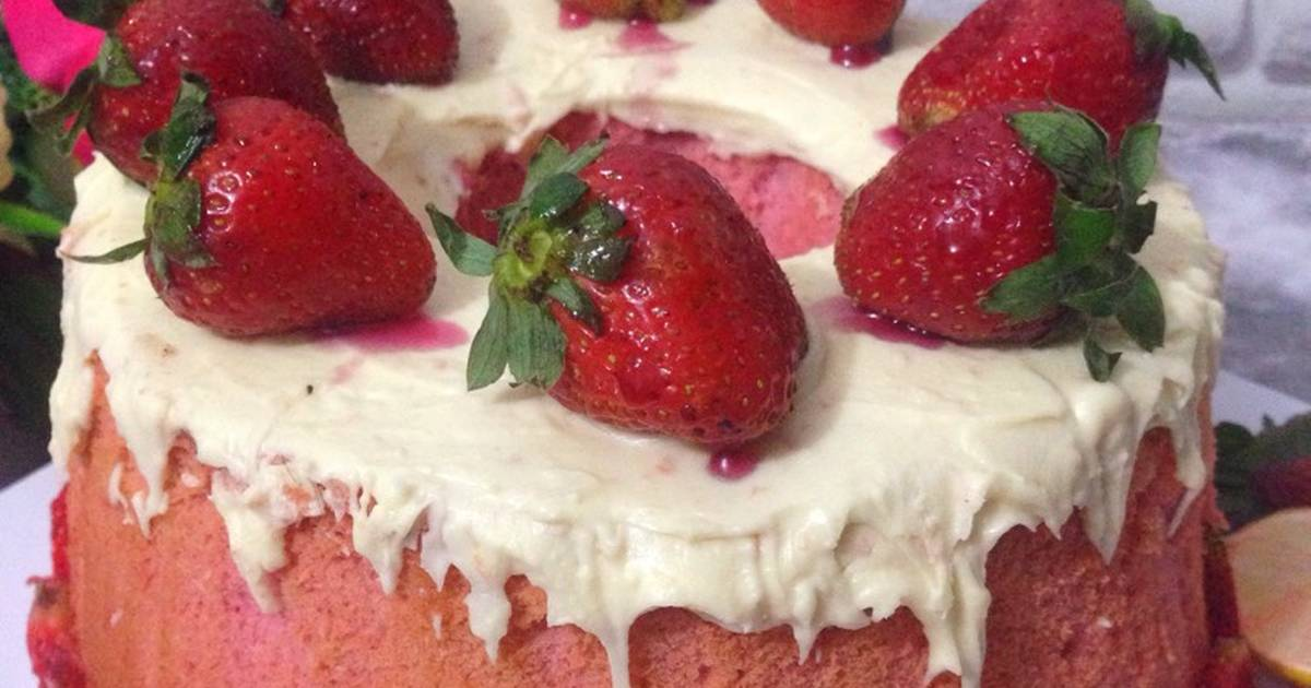Resep Strawberry Chiffon cake