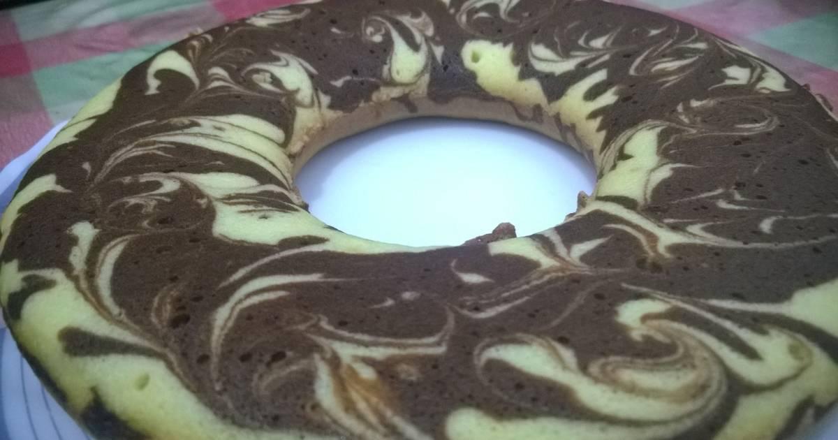 Resep Marble Cake Putih Telur empuk, lembut, empus2
