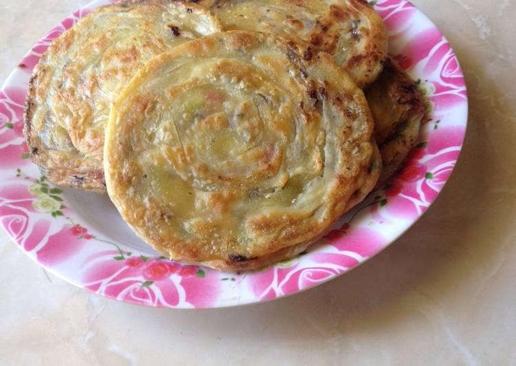 pratha yang dibuat oleh latifa aisyah fahmie bisa disajikan  Resep Roti maryam / canai / pratha Kiriman dari latifa aisyah fahmie