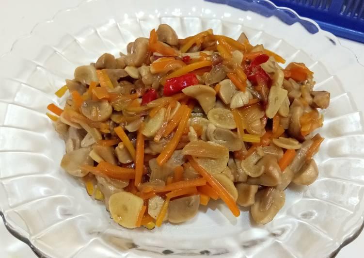 Tumis jamur merang & wortel