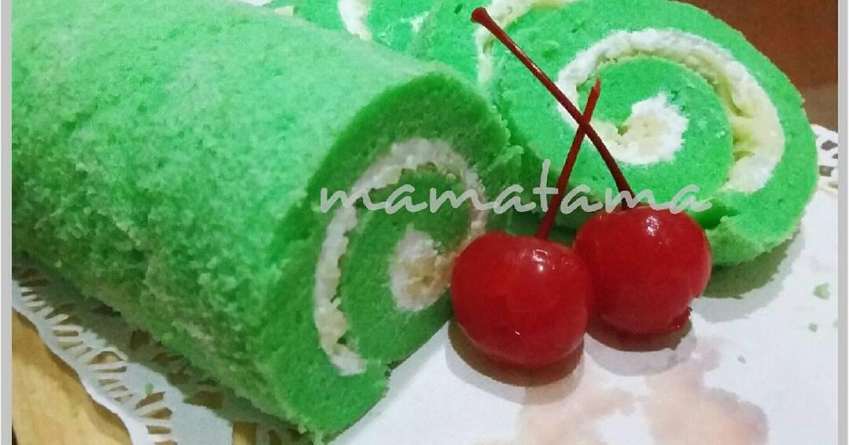 Resep Green Rollnet (Bolu Gulung Pandan)