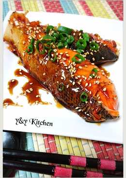 Salmon honey teriyaki glaze