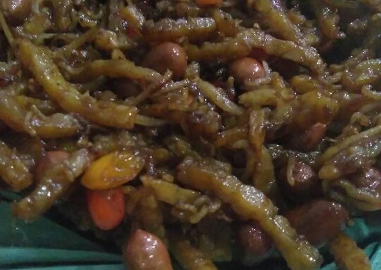 Orek tempe teri kacang