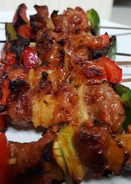 Barbeque Grill Beef Skewer with Chef Sauce