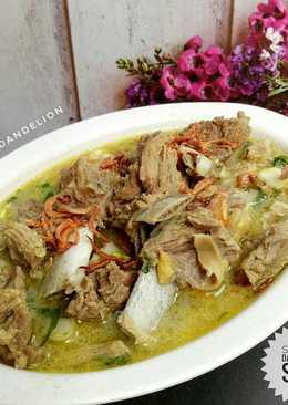 Sup Iga dan Daging Sapi #Dandelion