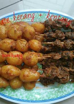 Rendang sate kerang & kentang