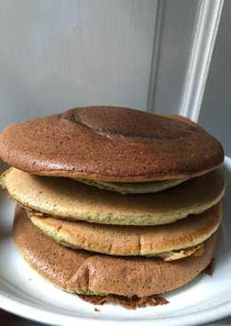 Fluffy green tea pancake