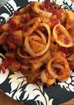 Balado kentang onion ring