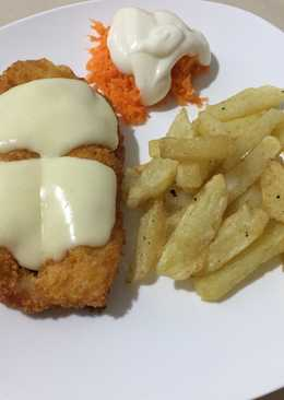 Chicken katsu mozzarella w/ fried potato