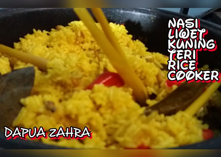 Resep Nasi Liwet Kuning Teri Rice Cooker By rini mardanoes