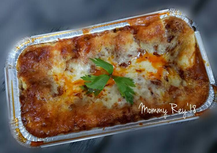 My yummy homemade lasagna bahan mudah didapat