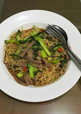 Beef shirataki stir fried noodle (mie diet)