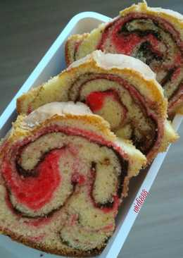 Marble cake simple (all in one)