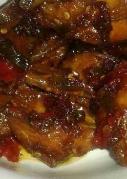 Ayam kecap pedas manis (sederhana)