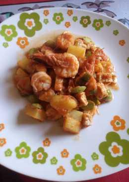 Sambal goreng udang pete kentang simpel, sedaappp